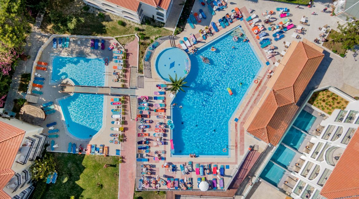 Top view of the pool area I