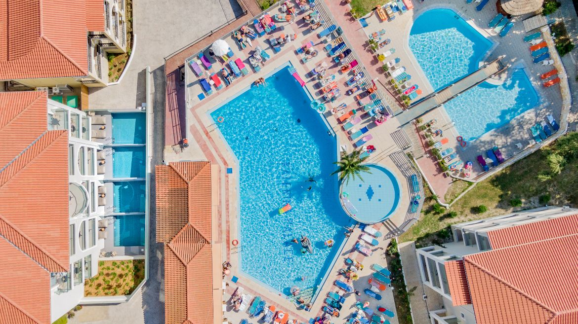 Top view of the pool area II